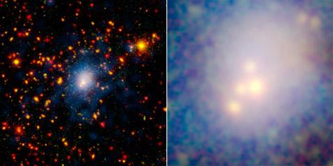 Столкнулись четыре галактики