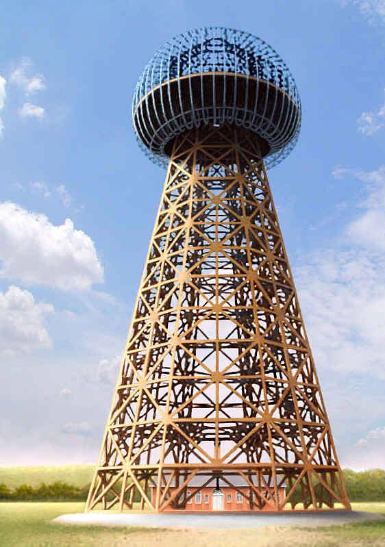 Деревянный каркас 57 метровой вышки, весом 55 тонн и диаметром 21 метр, спроектировнной W. D. Crow. Это должна была быть первая в мире беспроводная электростанция. Единственной металлической частью конструкции был сферический купол. <br />             Строительство было начато в 1901 году, и так и не было завершено, т.к. было прекращено финансирование. Снесена она была в 1917 году.